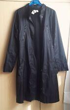 """Impermeabile Trench lungo Donna """"MORGAN"""" Taglia S Nero -Woman Coat Jacket"""