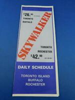 SKYWALKER AIRLINES TIMETABLE DAILY SCHEDULE ADVERTISING TORONTO BUFFALO