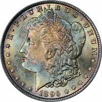 1896 NGC Morgan from MS64 Amazing Colorful Toned Gem