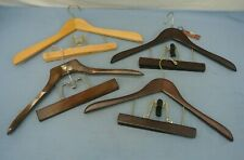 LOT OF 4 WOOD COMBINATION HANGARS FOR PANTS & SHIRT