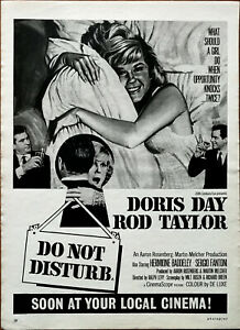 Do Not Disturb Doris Day, Rod Taylor Vintage Film Advertisement 1966