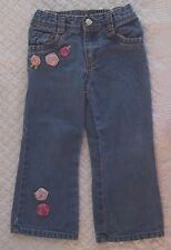 Old Navy 3T Girls Roses Jeans VGUC flower back elastic spring