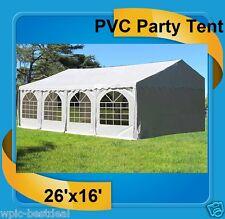 PVC Party Tent 26' x 16' White - Heavy Duty Party Wedding Carport Canopy