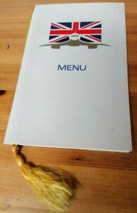 Concorde pre-commercial flight, Endurance (testing) flight menu (1975).