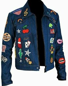Elton John Taron Egerton Dancer Rocketman Movie Jacket Denim Cotton Costume Mens