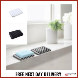 x2 Silicone Kitchen Sponge Holder Soap Dish Bathroom Soap Box FAST FREE DELIVERY