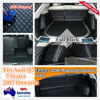 Custom Made Car Boot Cargo Mats Wheel Arches Cover Liner for Audi Q7 2017 7 seat