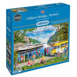 Gibsons 500 piece jigsaw puzzle - Clifton Bridge Bristol - Derek Roberts - New