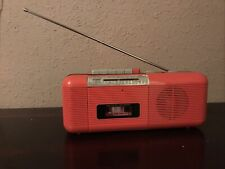 Vintage Hot Pink Boombox Ct-72 Am/Fm Radio Cassette Stranger Things sharp qt-50