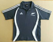 Used New Zealand All Blacks Adidas Rugby Polo Shirt Size Small