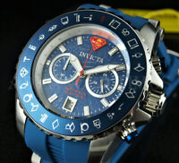 Invicta 50mm DC Comics SUPERMAN Ltd. Ed. METEORITE Dial Chronograph BLUE Watch