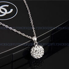 Ladies Fashion Jewellery 925 Sterling Silver Necklace Crystal Shambhala Pendant
