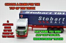 PERSONALISED NAMES Gift Stobart Rail Truck Lorry 25cm Model Toy Present Boxed
