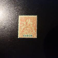 FRANCE COLONIE GABON N°22 NEUF * GOMME D'ORIGINE COTE 18€