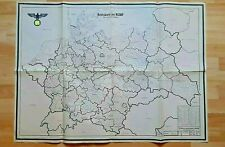 More details for ultra rare - large ww2 map of germany, gau administrative regions