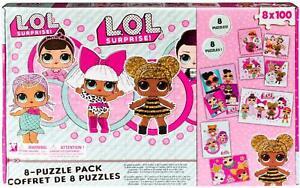 LOL Surprise Puzzle, 8 Puzzles Pack, 8 x 100 Pieces