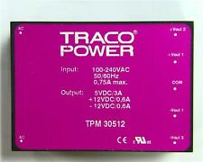 TRACOPOWER 30W 3 Output Embedded Switch Mode Power Supply 5V ±12V DC 3000 600mA