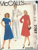 7787 UNCUT McCalls Sewing Pattern Misses Princess Seamed Half Size Dress 22.5 FF