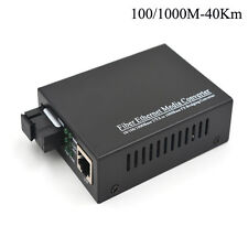 2PCS Gigabit Singlemode Fast Ethernet fiber media converter 40Km SC, 1310nm