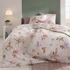 Estella Interlock Jersey Bettwäsche Tara 6865-250 Azalee Blumen Pink 135x200