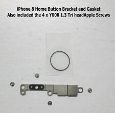 "iPhone 8  4.7"" HOME BUTTON METAL PLATE BRACKET AND SCREW SET"