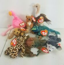 8 Mcdonalds Happy Meal Toys Beanie Baby Plush Animals TY w Tags  Mixed Lot A