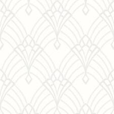 ASTORIA Art Déco Papier Peint Rouleaux blanc/ARGENT - Rasch 305302 pailleté
