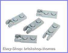 Lego 5 x Scharniere Gelenk grau - 44302 - Hinge Light Bluish Gray - NEU / NEW