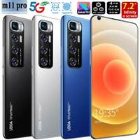"M11 Pro 7.2"" Face ID Fingerprint Smart phone Android10.0 4+64GB 5600mah"
