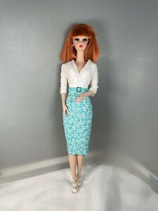 Silkstone Barbie Classic 50's Style Cotton Dress & Buckle Belt by Solveig