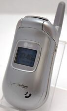 LG VX3450 Verizon Silver Flip Cell Phone Chaperone Family Locator Child Zone GPS