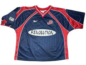 Vintage Reebok 1998-1999 MLS New England Revolution Soccer Jersey Size Mens L
