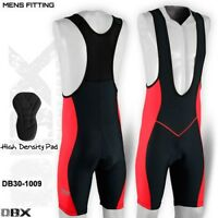 Mens Cycling Tights Bib Shorts Hi-Density Padded MTB Bike Legging Red S,M,L,XL