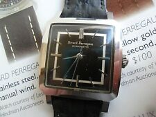 Clean Original S/S Vintage 1960's Men's Girard Perregaux Gyromatic Swiss Watch