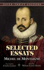 Michel de Montaigne: Selected Essays (Dover Thrift Editions), 0486486036, New Bo