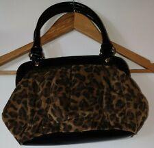 Next Y2K Animal Print Leopard Print Magnetic Clasp Patent Faux Leather Handbag