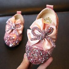 Girls Leather Shoes Round Head Baby Square Mouth Shoes Girls Soft Bottom Flowers