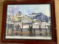 "John Zerr 2002 ""Port Scene"" Print - Pencil Signed"