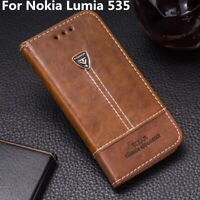 Card Holder Leather Flip Stand Wallet Phone Case Cover 5.0'' For Nokia Lumia 535
