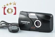 Very Good!! Olympus μ[mju:]-II Black 35mm Point & Shoot Film Camera