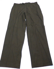 Perry Ellis Mens Size 36X32 Greenish Brown Dress Pants Great Condition