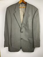 Hugo Boss Mens Suit Jacket 40R Sport Coat 2 Button Wool Blazer Brown