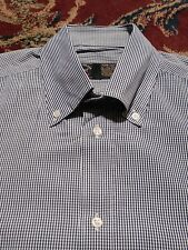 "PAUL & SHARK Men's 100% Cotton Medium (M) GRAY CHECKED L/S Shirt, Sleeves 31"""