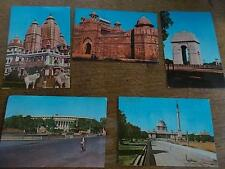 Vtg Collection Indian Postcards N DELHI INDIA Gate Presidents Parliament  House