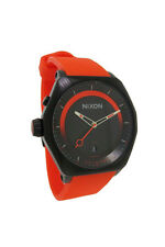 Nixon A271 577 Decision: Men's Round Analog Timer Date Tangerine Silicone Watch