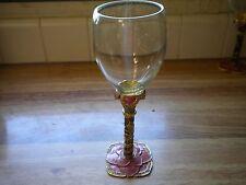 Vintage Swarovski Crystal Enameled Wine Glass Makers Mark 2 Saints