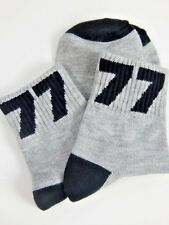 Nos Rare Gray 77 Black # Crew Socks Bobby Ankle Sock Hop Sport Retro School Girl