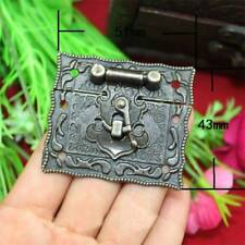 Antique Style Hardware Bronze Tone Metal Rectangle Latch Box Buckle Hasps