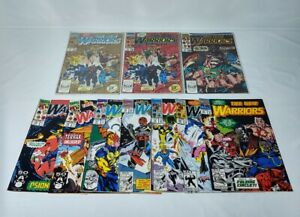 Marvel The New Warriors.  Lot Of 10 - 2x#1,3,15-21 Nice reader's lot GC see pics