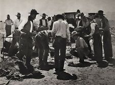 1908/52 Vintage WESTERN COWBOYS Dinner Food Camp 11x14 Photo Art ERWIN E. SMITH